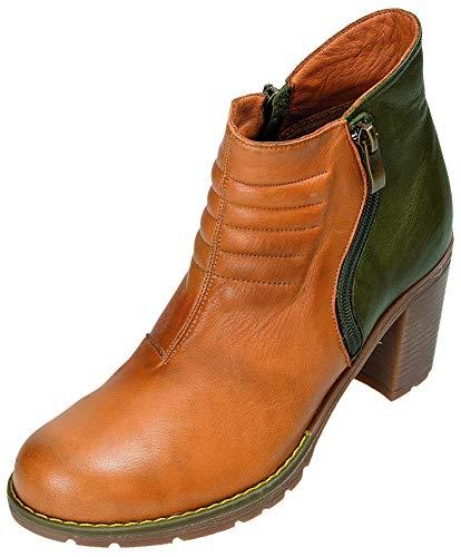 MICCOS Shoes Stiefel D.RV-Stiefel in nuss/Olive, Größe 38.0,