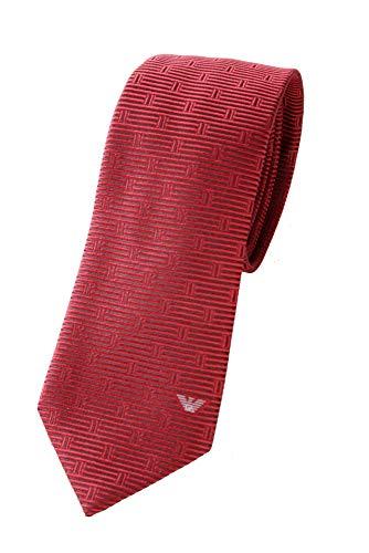 Emporio Armani Herren Krawatte 100{5202f1c5c0d21af184d1ba83c21f1c5a12b5cf74713d4fa1efce7748389805a1} Seide (Garned Red)