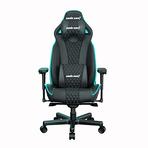 Anda Seat Throne Lightning Series Pro Gaming Chair Black, RGB Lights - Office Chair with Arms, Lumbar Back Support Desk Chair - Ergonomic Backrest, Seat and Arm Height Adjustment Gaming Seat
