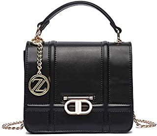 حقيبة بحزام طويل يمر بالجسم للنساء من زينيف لندن - اسود 119859000038