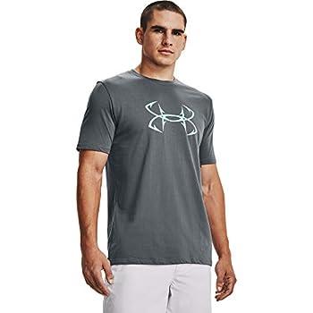 Under Armour Men s Fish Hook Logo Short-Sleeve T-Shirt  Pitch Gray  013 /Breeze  XX-Large