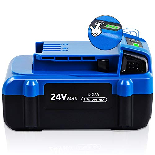 【Upgrade】 CaliHutt 24V 5.0Ah High Capacity Replacement Battery for Kobalt 24V Battery Max KB624-03 KB524-03 KB424-03 KB224-03 KB124-03 0673802 1051230 Lithium Ion Cordless Tools Battery
