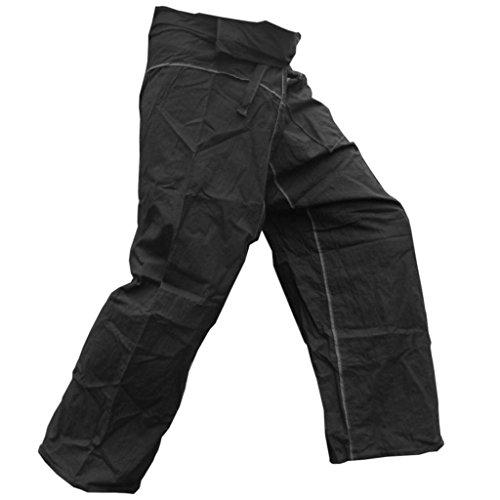 PANASIAM Fisherman Pants Stripe-Design, schwarz