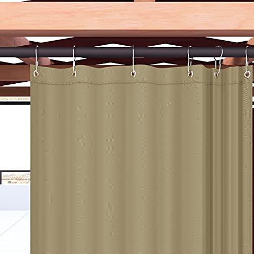 Byour3 Toldo para exterior de acrílico con anillas de caída impermeables, antimoho, color liso (calidad A+++), tabaco acrílico, 350 x 315 cm