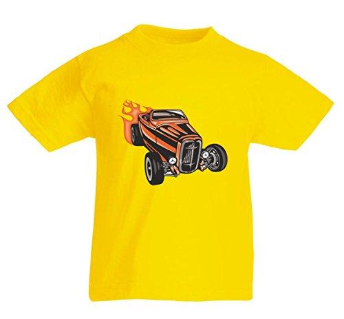 Camiseta Cobra Classic Hotrod en naranja a rayas America Amy Estados Unidos Auto Car Ampliación V8 V12 Motor Llanta Tuning Mustang Cobra para hombre mujer niños 104 – 5 x l amarillo Para Hombre Talla : Medium