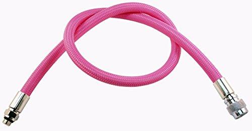METALSUB Bcd–Manguera de inflador Flex Trenzado, Color Rosa