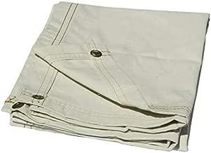 90 Degree® Heavy Sunproof White Cloth Canvas Tarpaulin Tarp for Tent House with Eyelet 610 GSM (15 x 12 Feet)