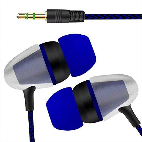 Kopfhörer Headset Ohrhörer In-Ear Universal 3,5 mm In-Ear-Stereo-Ohrhörer-Kopfhörer für Handy (Blau)