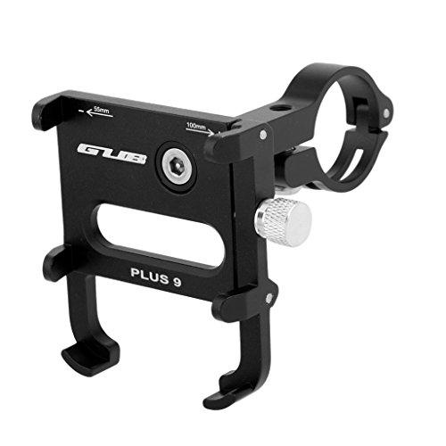 lahomia Motocicleta MTB Bicicleta Manillar Soporte para Teléfono Móvil Soporte GPS Pick - Negro
