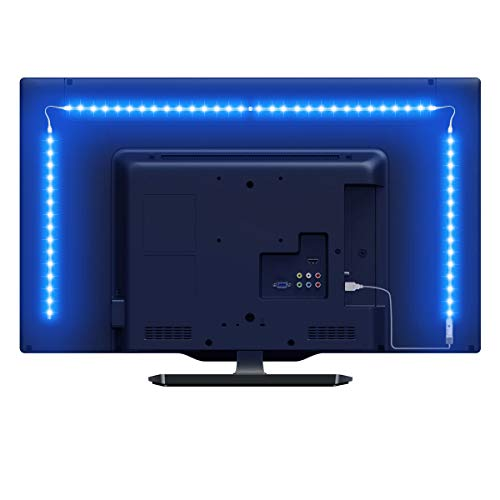 Lepro Striscia LED RGB 2m 5050 SMD, USB Alimentata e Telecomando Wireless RF, Striscia Luminosa Retroilluminazione TV con 16 Colori Dimmerabili per Monitor PC TV da 32-65 pollici (4 Strisce da 50 cm)
