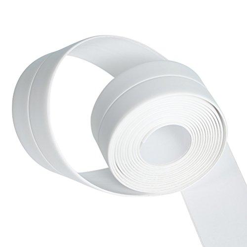 BESTOMZ Selbstklebende Dichtband Wasserdicht für Bad Dusche Waschbecken 260 x 4 cm (Weiß)
