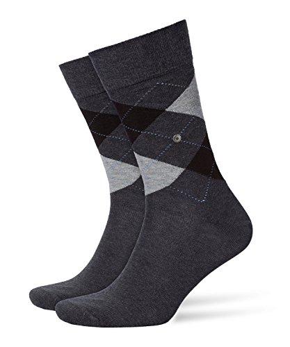 Burlington Herren King M SO Socken, Grau (Anthracite Melange 3081), 40-46