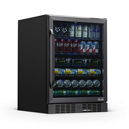 NewAir NBC177BS00 Beverage Cooler, 177 Can, Black Stainless Steel