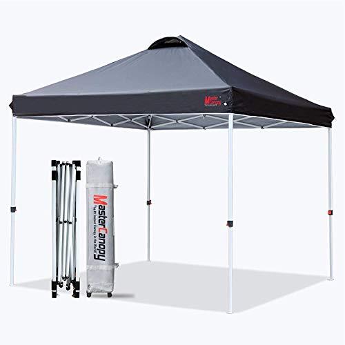 MasterCanopy Durable Ez Pop-up Gazebo Tent with Roller Bag (3X3M, Blackcolour)