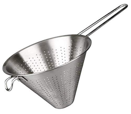 MGE - Edelstahl Küchensieb - Spitzsieb - Abtropfsieb - Ø 24 cm - Silber