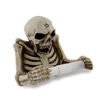 Things2Die4 Evil Skeleton Sculptural Toilet Tissue Holder