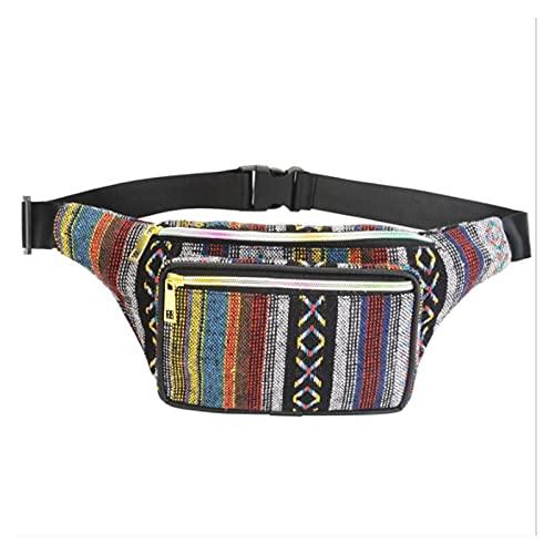Yuchang LLPing Nuevas Mujeres FANDY Pack 5 Colores Tela Paquetes de la Cintura Bolso de la Cintura 2 Bolsillo de la Cintura de la Cintura Bolsa de Viaje Bolsa de teléfono LELEMAO (Color : D)