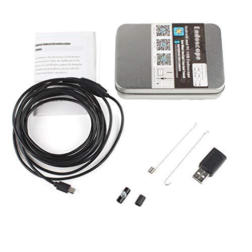 SHZJZ Pipe-Endoskop-Objektiv HD 5.5mm Android-Endoskop für das Autoindustrie-Handy für Android/Windows,3.5msoftwire