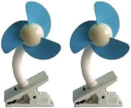 Dream Baby Stroller Fan, White/Blue - 2 Pack