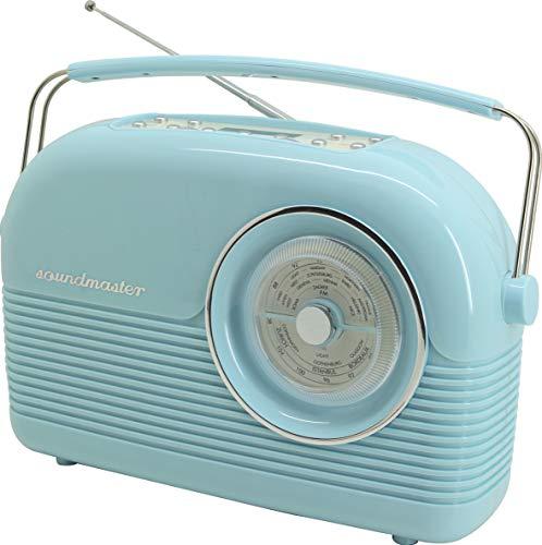Soundmaster DAB450BL DAB+ UKW Retro Radio Festsenderspeicher Wecker Dualalarm Kopfhöhreranschluss