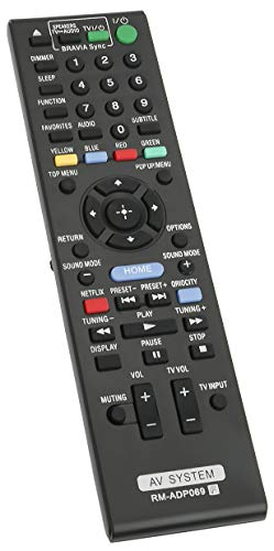 ALLIMITY RM-ADP069 Control Remoto reemplazado Apto para Sony AV System RMADP069 HBD-E580...