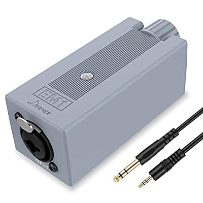 Donner EM1 Rechargeable Portable Personal in-Ear Monitor Amplifier Analog Headphone Amplifier Stereo Headphone Earphone Amp Volume Control Audio Booster with XLR and TRS Input 3.5mm Output Jack from Donner