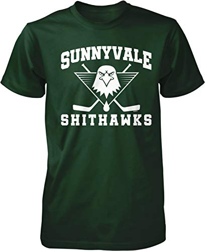 NOFO Clothing Co Sunnyvale Shithawks Men's T-Shirt, XXL Forest