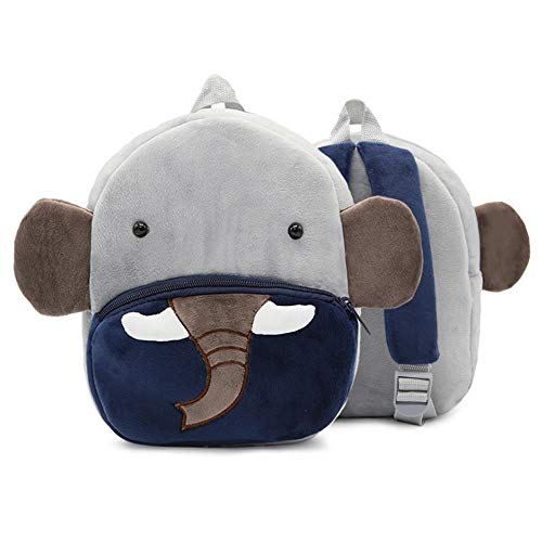 Lifemaison Children's Backpack Toddler Kids School Bag Cute Small 3D Animal Cartoon Mini Bags for 1-6 Years Old(Elephant)
