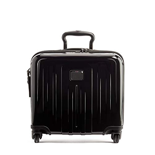 TUMI - V4 Compact Carry-On 4 Wheeled Brief - 14 Inch Laptop BriefClass for Men and Women - Black