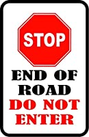 道の終わりは、カスタム駐車場アルミニウム金属サインインチを入れません