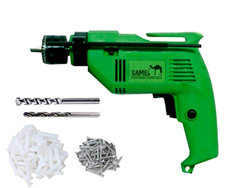 CAMEL BRAND 13mm 500w Electric Drill Machine with 2Pcs Wall/Metal Drill Bit & Screw Fastners