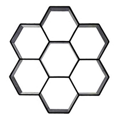 LIANDU Betonform Schalungsform Gießform Pflaster Gehweg Form Trittsteinen Schalungsform,Plastikformen für Beton für Garten,Rasen,Pflastersteine,Terrassenplatten