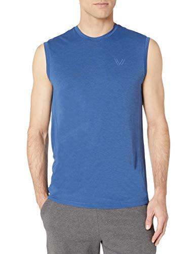 Peak Velocity - Camiseta Vxe sin mangas de secado rápido para hombre, distintos cortes, Victory Blue Heather, US S (EU S)