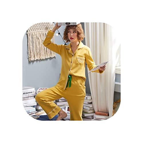 Groene Plaid Winter Lange Mouw Pyjama Vrouwen Pak Meisje Pijamas Mujer Katoen Doek Losse