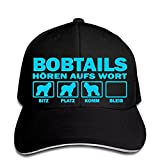 Trend Berretto da baseball con motivo cane Bobtail Bobtail Hear Word Bobtail Snapback cappello con visiera da sole stile polo regalo