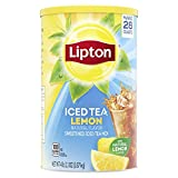 Lipton Powdered Mix Iced Tea Mix For a Refreshing Cool Beverage Lemon Black Tea Sweetened With Real Cane Sugar 28 qt