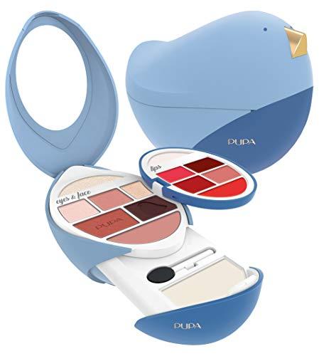 PUPA cofanetto trousse trucchi BIRD 3 coffret maquillage azzurro - kit cod.003 IDEA REGALO Con scatola