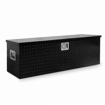 49  Heavy Duty Aluminum Utility Tool Box Diamond Plate Pattern Chest Box Truck Bed Truck Underbody Tool Box Trailer RV Tool Storage Stainless Steel Security Lock For Storing Tools In Vehicle Or Home