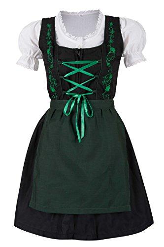 MS-Trachten 3 teiliges Kinder Dirndl Trachtenkleid Steffi (104, grün)