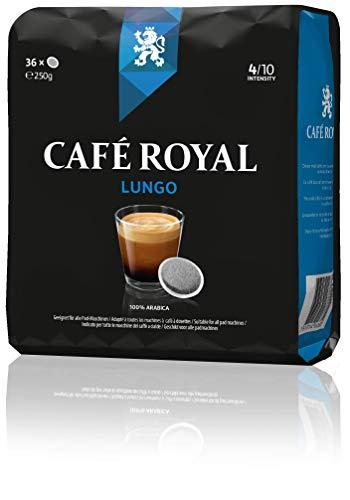 Café Royal Lungo 180 kompatible Kaffeepads für Senseo, Intesität 4/10, 5er Pack (5 x 36 Kaffee-Pads)