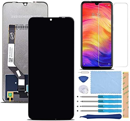 Pantalla LCD Táctil Asamblea Repuesto Compatible con Redmi Note 7 Negro con Herramientas + Película Templada Redmi Note 7