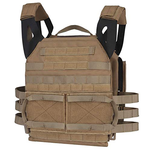 Tactical JPC MOLLE Vest, Adult Tactical CS Field Vest Outdoor Training Airsoft Protective Vest