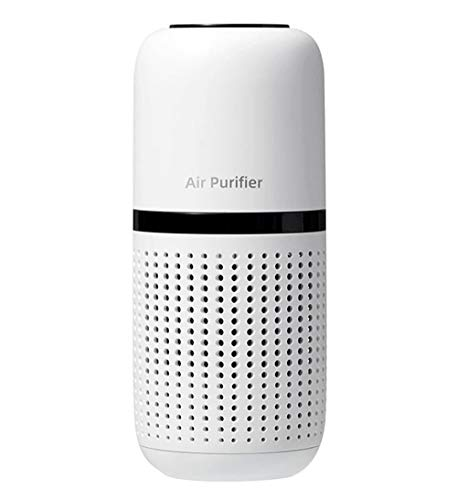 Purificador de aire limpiador eliminador humo polvo ionizador iónico para coche hogar mini portátil en blanco