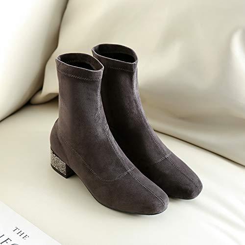 Shukan laarzen herfst en winter dik met laarzen Martin laarzen laarzen Temperament was dun in de buis sokken laarzen stretch boots dunne laarzen