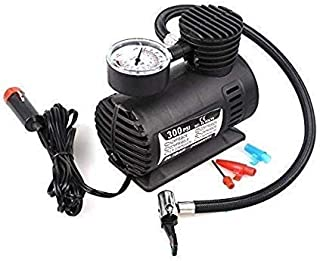 Rexez Electric Air Compressor Inflator Pump for car, Bike, tubeless tyre. 12V 300 PSI air Pump for Bicycle, Football, Basketball.