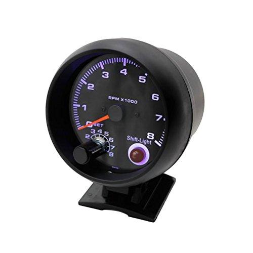 WINOMO - Medidor de tacómetro para coche, medidor de turbocompresión, luz blanca universal