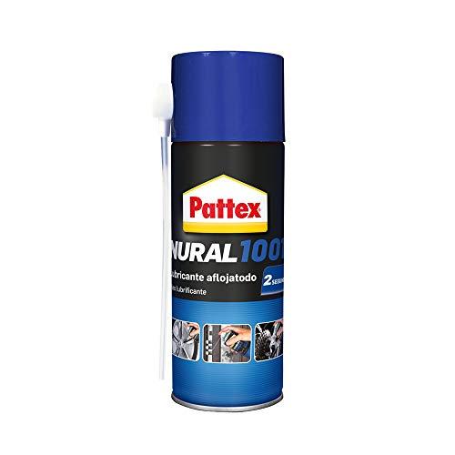 Pattex Nural 1001 Lubricante aflojatodo, aceite lubricante que expulsa la humedad y protege de la oxidación, lubricante multiusos para hogar, coche, industria, 1 x 150 ml, Multicolor, 25x17x15 cm