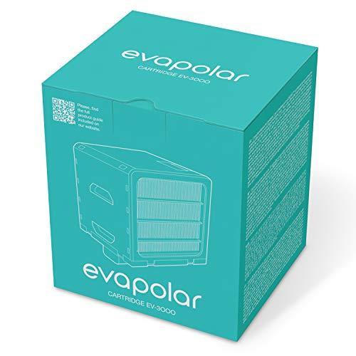 Evapolar - Cartucho de evaporación de repuesto para refrigerador de aire personal + humidificador evaSMART