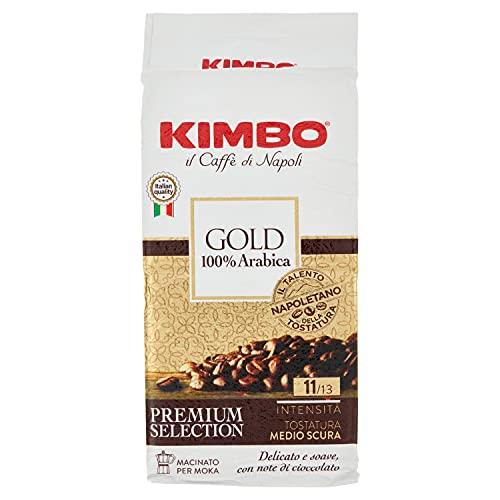 Kimbo Gold 100% Arabica Caffè Macinato per Moka, 250g