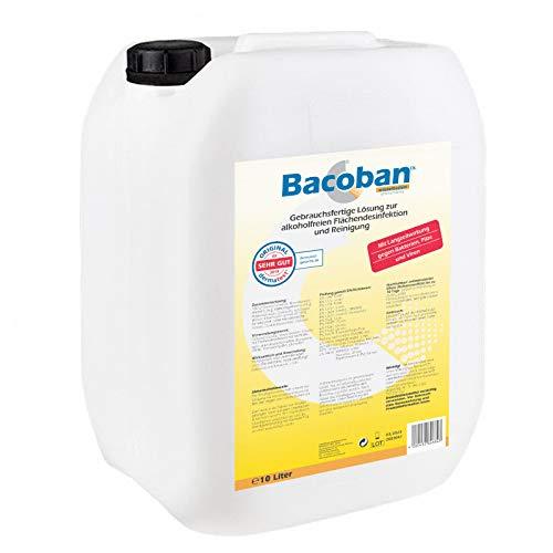 BACOBAN® Langzeit Flächendesinfektion, wasserbasiert - Fertiglösung, 10 Liter Desinfektion gegen Viren und Baterien